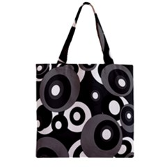 Gray pattern Zipper Grocery Tote Bag