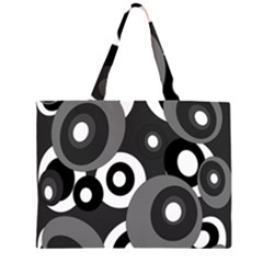 Gray pattern Large Tote Bag