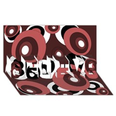 Decorative pattern BELIEVE 3D Greeting Card (8x4)