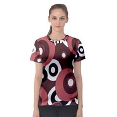 Decorative pattern Women s Sport Mesh Tee