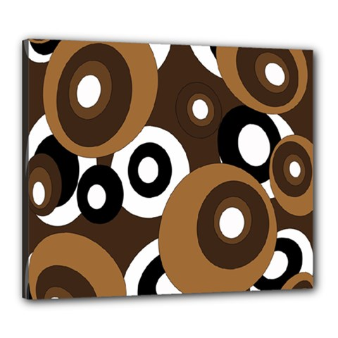 Brown pattern Canvas 24  x 20