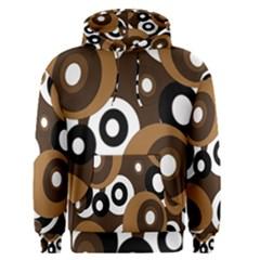 Brown pattern Men s Pullover Hoodie
