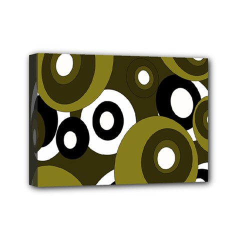 Green pattern Mini Canvas 7  x 5