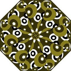 Green pattern Hook Handle Umbrellas (Medium)