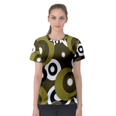 Green pattern Women s Sport Mesh Tee
