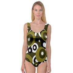 Green pattern Princess Tank Leotard