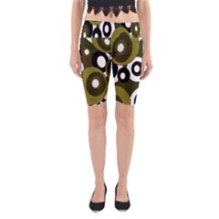 Green pattern Yoga Cropped Leggings