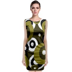 Green pattern Classic Sleeveless Midi Dress