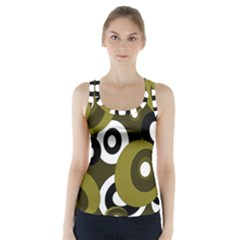 Green pattern Racer Back Sports Top