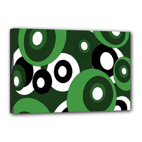 Green pattern Canvas 18  x 12