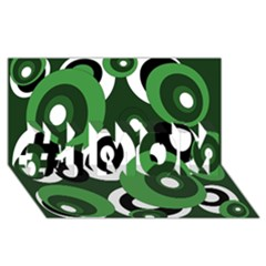 Green pattern #1 MOM 3D Greeting Cards (8x4)