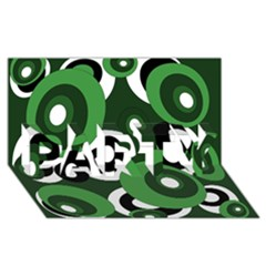 Green pattern PARTY 3D Greeting Card (8x4)