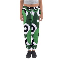 Green Pattern Women s Jogger Sweatpants