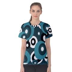 Blue pattern Women s Cotton Tee