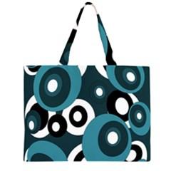 Blue pattern Large Tote Bag