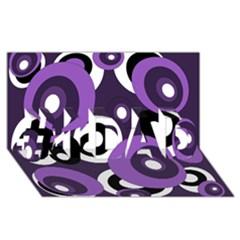 Purple Pattern #1 Dad 3d Greeting Card (8x4)