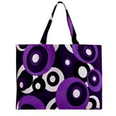 Purple pattern Zipper Mini Tote Bag