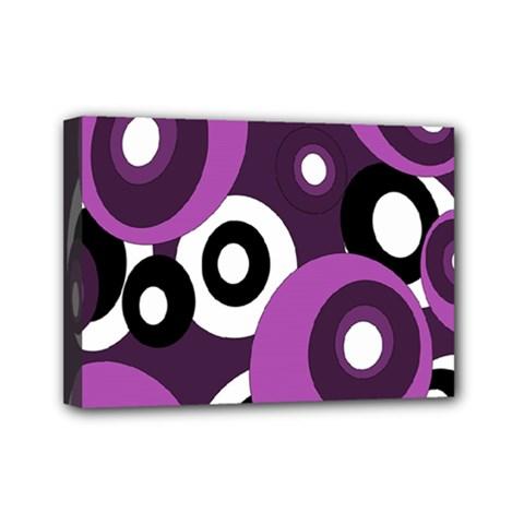 Purple pattern Mini Canvas 7  x 5