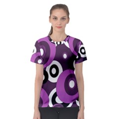 Purple pattern Women s Sport Mesh Tee