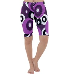 Purple pattern Cropped Leggings