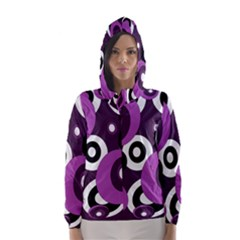 Purple pattern Hooded Wind Breaker (Women)