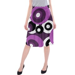 Purple Pattern Midi Beach Skirt