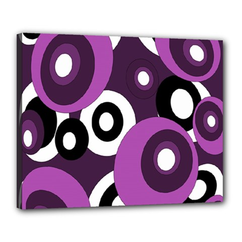 Purple pattern Canvas 20  x 16