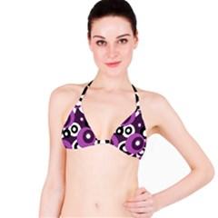 Purple pattern Bikini Top