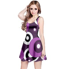 Purple pattern Reversible Sleeveless Dress