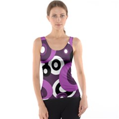 Purple pattern Tank Top