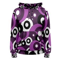 Purple pattern Women s Pullover Hoodie