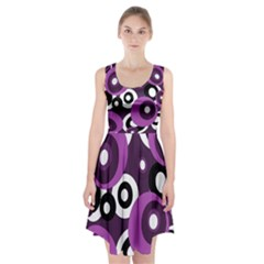 Purple pattern Racerback Midi Dress