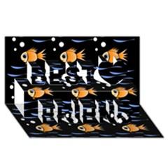 Fish pattern Best Friends 3D Greeting Card (8x4)