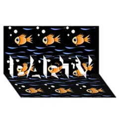 Fish pattern PARTY 3D Greeting Card (8x4)