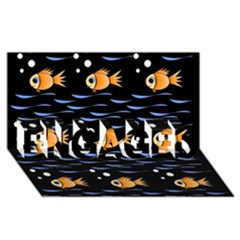 Fish pattern ENGAGED 3D Greeting Card (8x4)