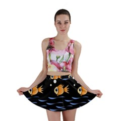 Fish pattern Mini Skirt