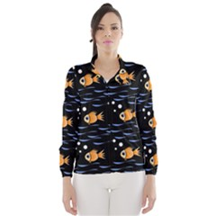 Fish pattern Wind Breaker (Women)