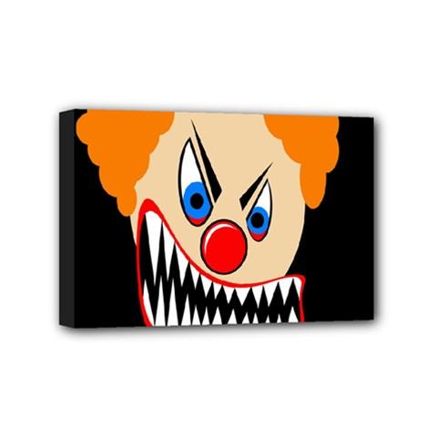 Evil clown Mini Canvas 6  x 4