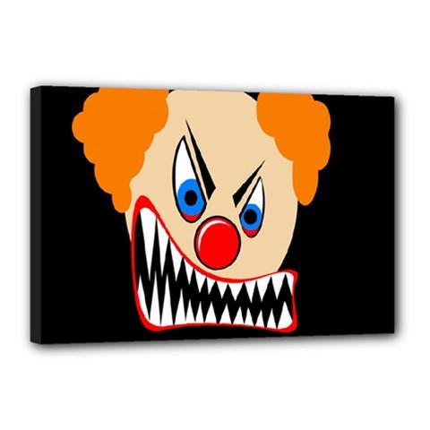 Evil clown Canvas 18  x 12