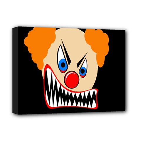 Evil clown Deluxe Canvas 16  x 12