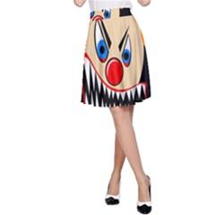 Evil clown A-Line Skirt