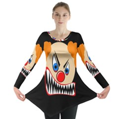 Evil clown Long Sleeve Tunic