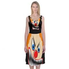 Evil Clown Midi Sleeveless Dress
