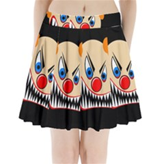 Evil clown Pleated Mini Mesh Skirt