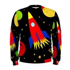 Spaceship Men s Sweatshirt