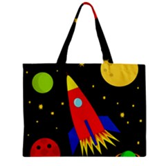 Spaceship Zipper Mini Tote Bag