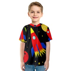 Spaceship Kid s Sport Mesh Tee