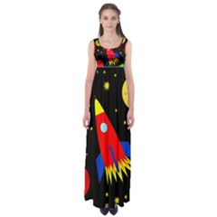 Spaceship Empire Waist Maxi Dress