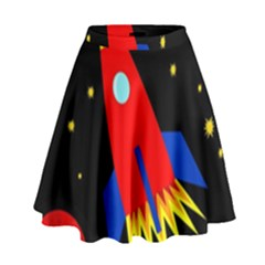 Spaceship High Waist Skirt
