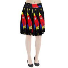 Spaceship Pleated Mesh Skirt